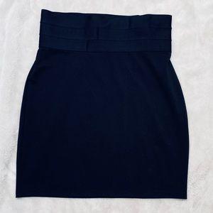 Max Studio Pull On Black Skirt Large